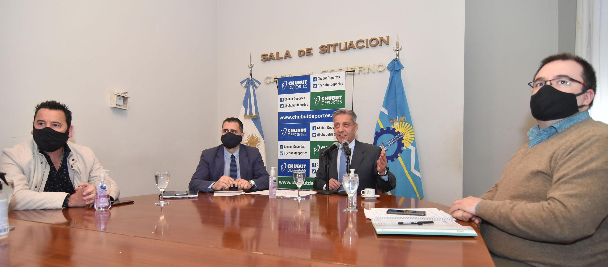 Arcioni presentó el programa de Gestión y Fortalecimiento a instituciones deportivas
