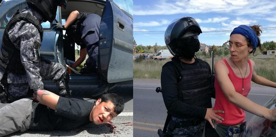 Violento procedimiento policial contra manifestantes que volvían de Rawson