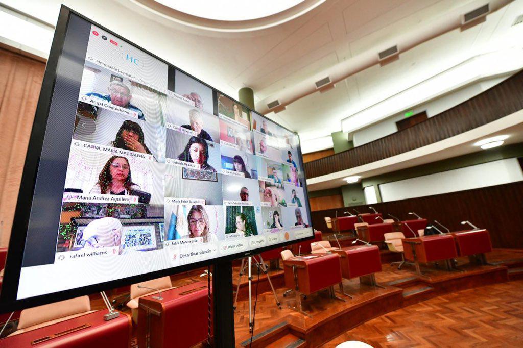Última sesión en vivo de la Legislatura, sin tratamiento de proyectos mineros