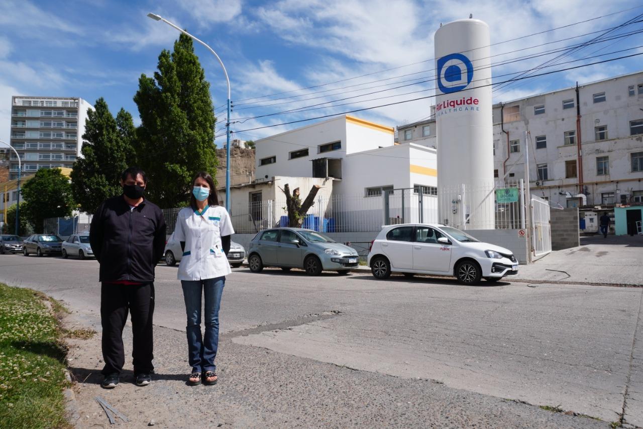 Comodoro: El Hospital incorporó un nuevo tanque de oxígeno líquido de 20 mil litros