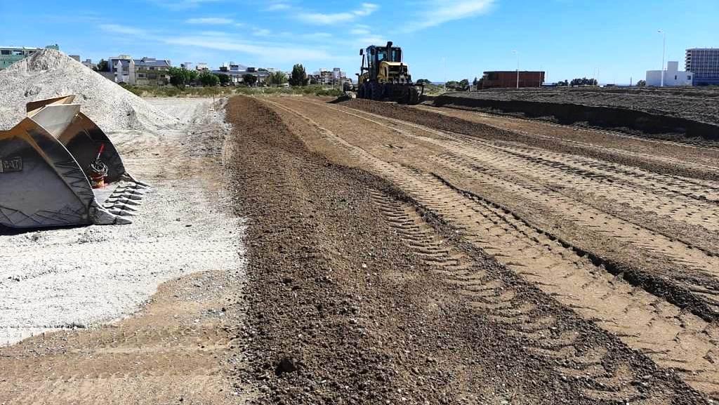 Madryn: Provincia comenzó a construir la platea para ubicar el Hospital Modular turístico