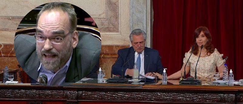 Con gritos de la oposición, Cristina abrió las sesiones ordinarias 2021