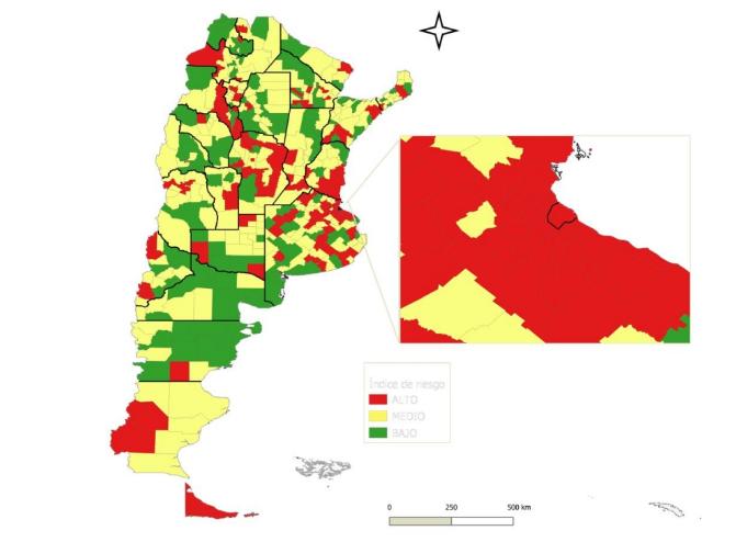 Riesgo epidemiológico: ¿Cuáles son los departamentos que se encuentran en rojo?