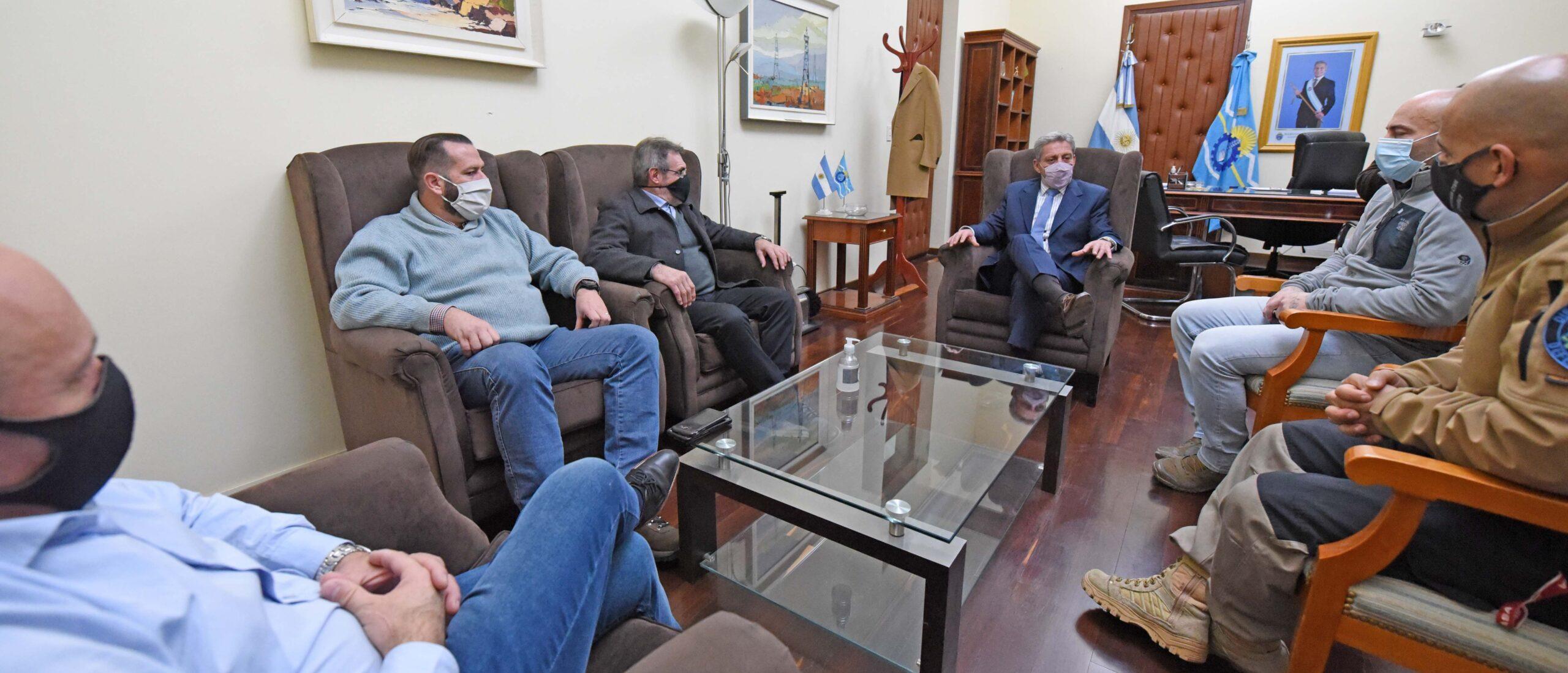 El Gobernador Arcioni recibió al subsecretario de Protección Civil de la Nación