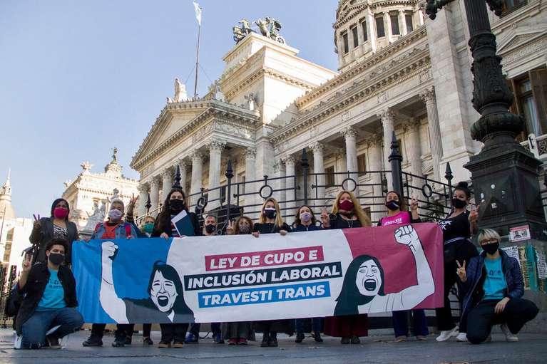 Inclusión: Por amplia mayoría, el Senado convirtió en Ley el cupo laboral travesti trans