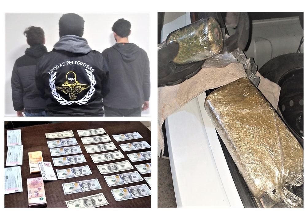 Operativo «Emperador»: Cuatro detenidos y un kilo de cocaína secuestrada en Chubut