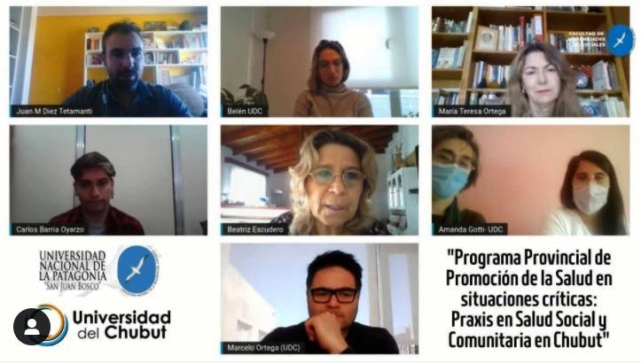 La Universidad del Chubut presentó el programa de extensión interinstitucional para la promoción de la salud