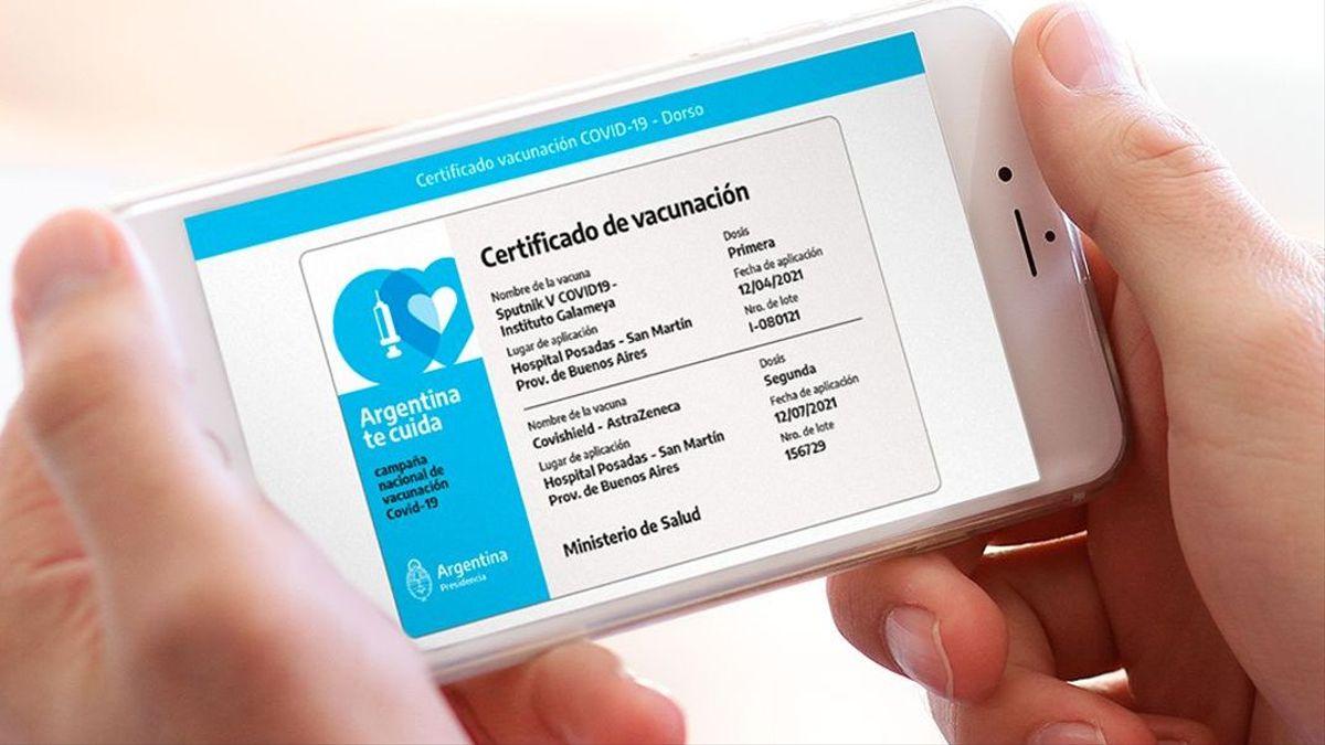 Covid-19: La credencial 'Mi Argentina' será el documento internacional de vacunación